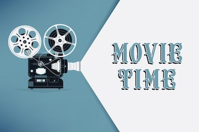 lovely movie time concept layout 260nw 368125658
